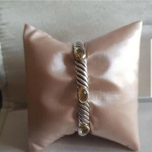 David Yurman 7mm Three Stone Renaissance Bracelet